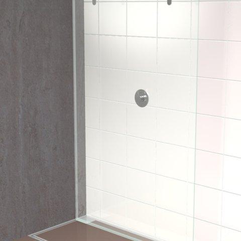 Mobile Shower Screen Door Ketterer Antriebe Detailansicht