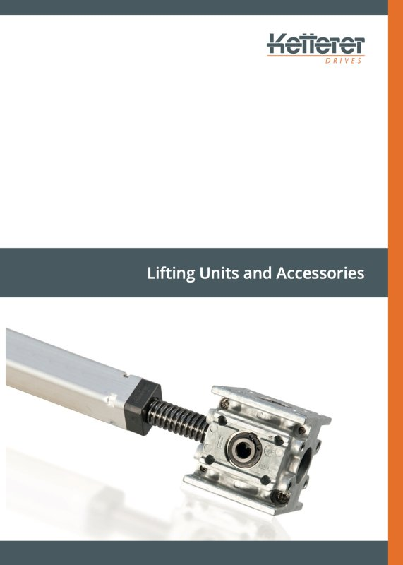 Product brochure Lifting Units